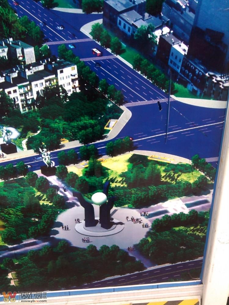 规划图   市政规划为了缓解进城车辆受三江魂这个圆型建筑造高清图片