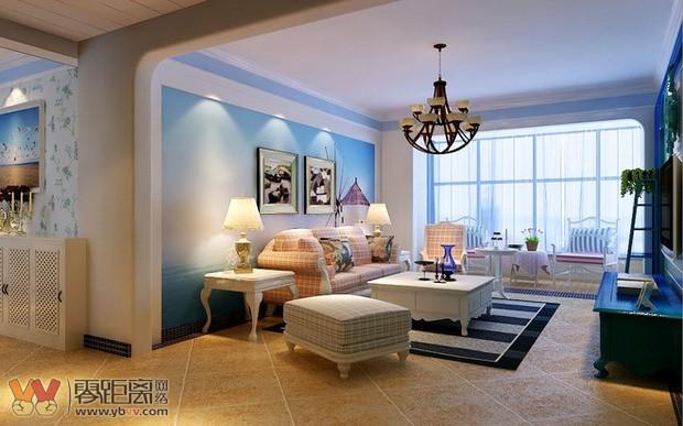 宜宾三室二厅115平米地中海风格住宅设计案例效果图 装饰装修